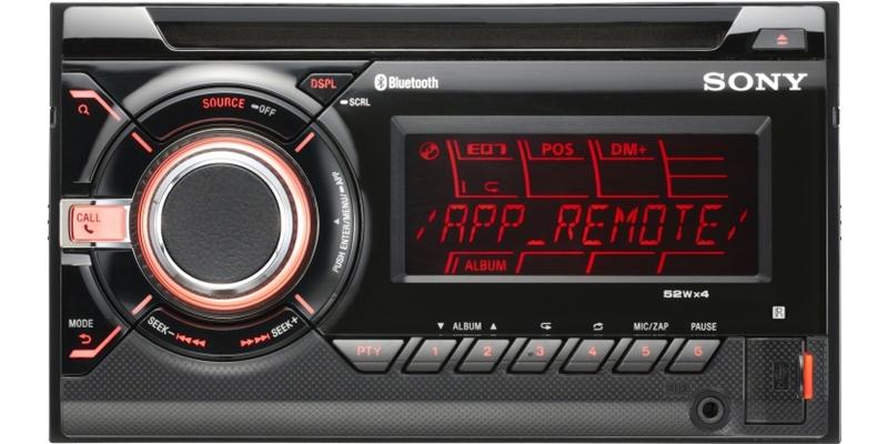 SONY Autoradio WXGT90BT 2 DIN med Bluetooth Bilstereo > CD / Radio
