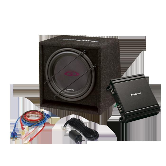 """Alpine SBG-30KIT 12"""" Subwoofer kit med forstærker Bilstereo > Subwoofere > Alpine > Aktive Subwoofer systemer"""