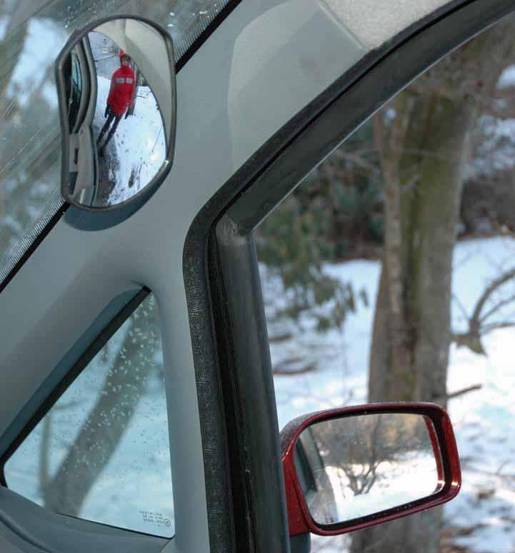 Vidvinkelspejl til indvendig montering. Bil & Trailer // Hjælpespejle