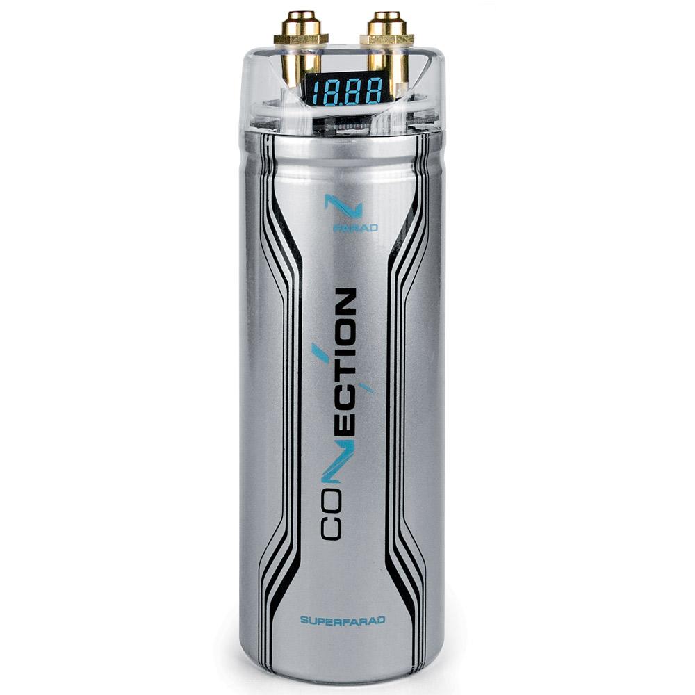 Connection FSF10 1.0 Farad kondensator Bilstereo > Monteringsdele > Kondensatorer