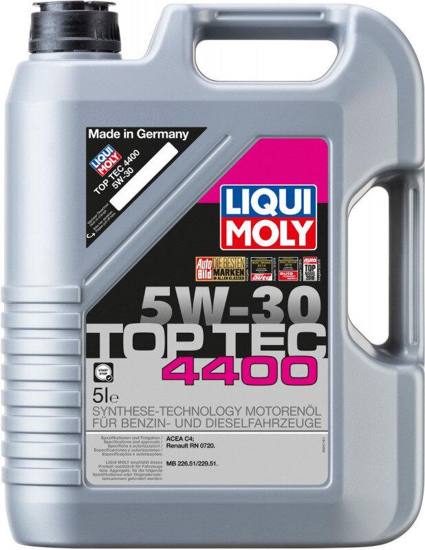 Top tec 4400 Liqui moly 5W30 Motorolie i 5l Top tec motorolie fra Liqui Moly
