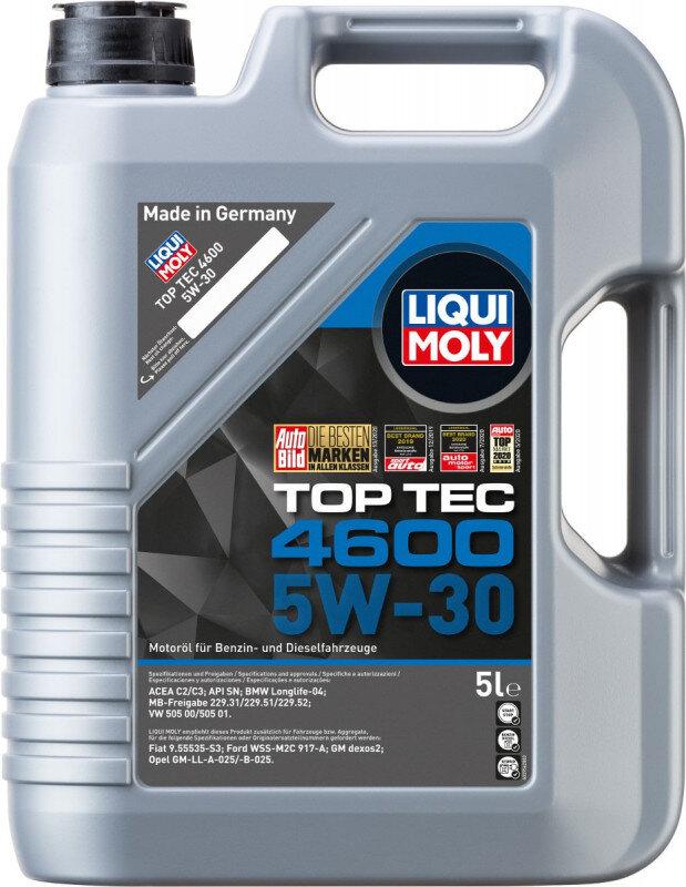 Top tec 4600 Liqui moly 5W30 Motorolie i 5l Top tec motorolie fra Liqui Moly