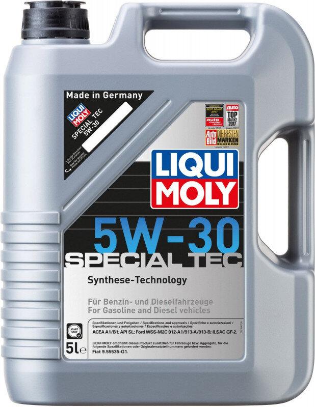Special Tec 5w30 motorolie til Ford fra Liqui Moly i 5l dunk Motorolie fra Liqui Moly