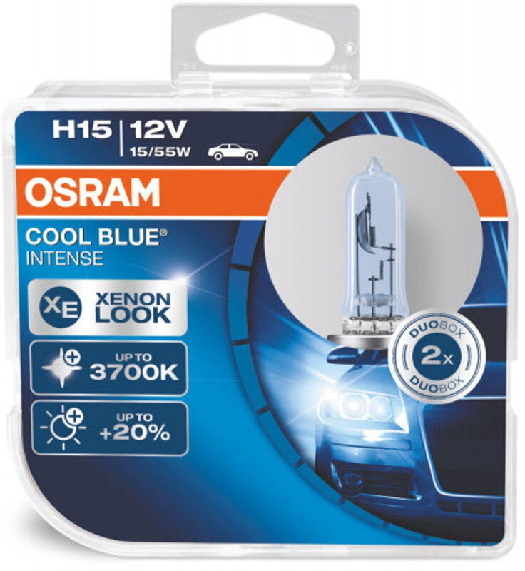 Osram H15 Cool Blue Intense pærer sæt (2 stk. ) Osram Cool Blue Intense