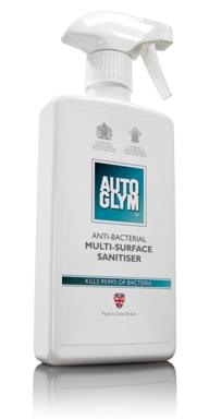 Autoglym Anti-Bakteriel rensevæske 500 ml. Bilpleje > Autoglym > Indvendig pleje