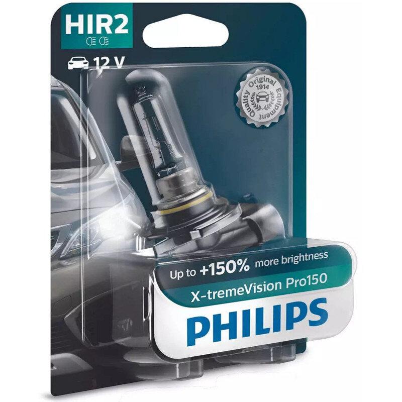 Philips X-Treme Vision Pro150 HIR2 pærer +150% mere lys (1 stk) Philips Xtreme Vision Pro +150%