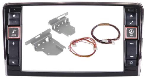 Alpine GKTX800DML Style monterings kit f. Mercedes ML og GL Bilstereo > Monteringssæt