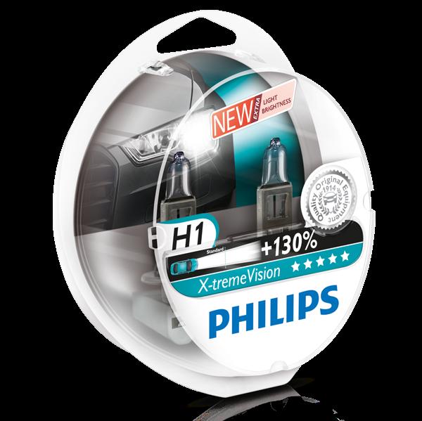 Philips X-treme Vision pærer H1