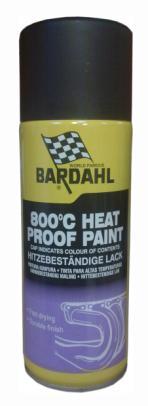 Bardahl Racing Black 800 C - Varmebestandig Silke Mat Sort - 400 ml. Olie & Kemi > Spray