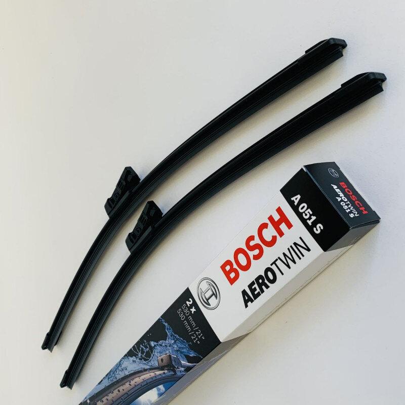 A051S Bosch AeroTwin Vinduesvisker / Viskerblade sæt på 53+53cm passer til Skoda Fabia + Roomster årg. 2006 og frem Bosch Vinduesvisker / Viskeblade & Bagrudeviskere