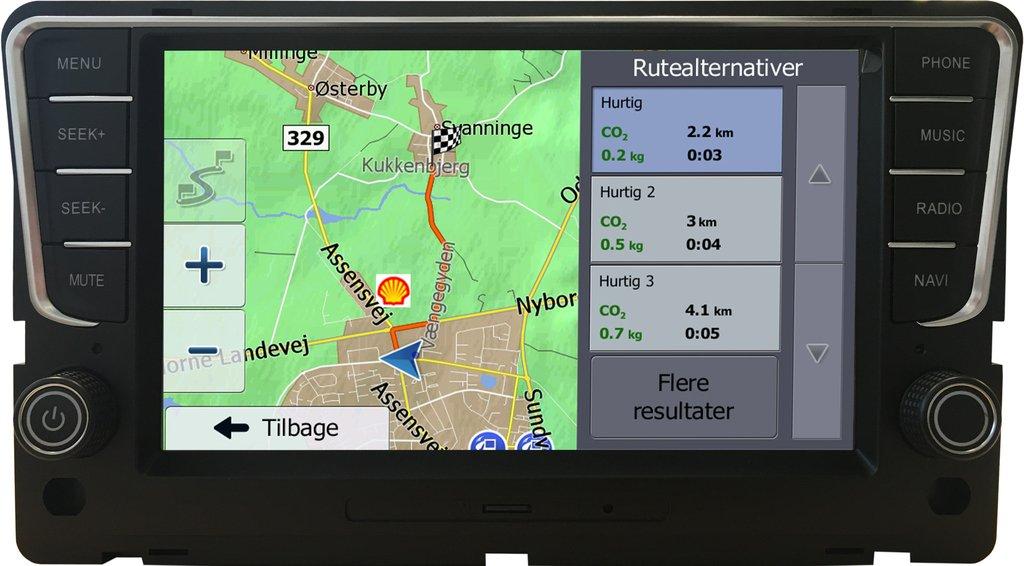 Volkswagen Golf 7 Navigation (Composition Media) Antracit grå Bilstereo > Navigation > Skoda