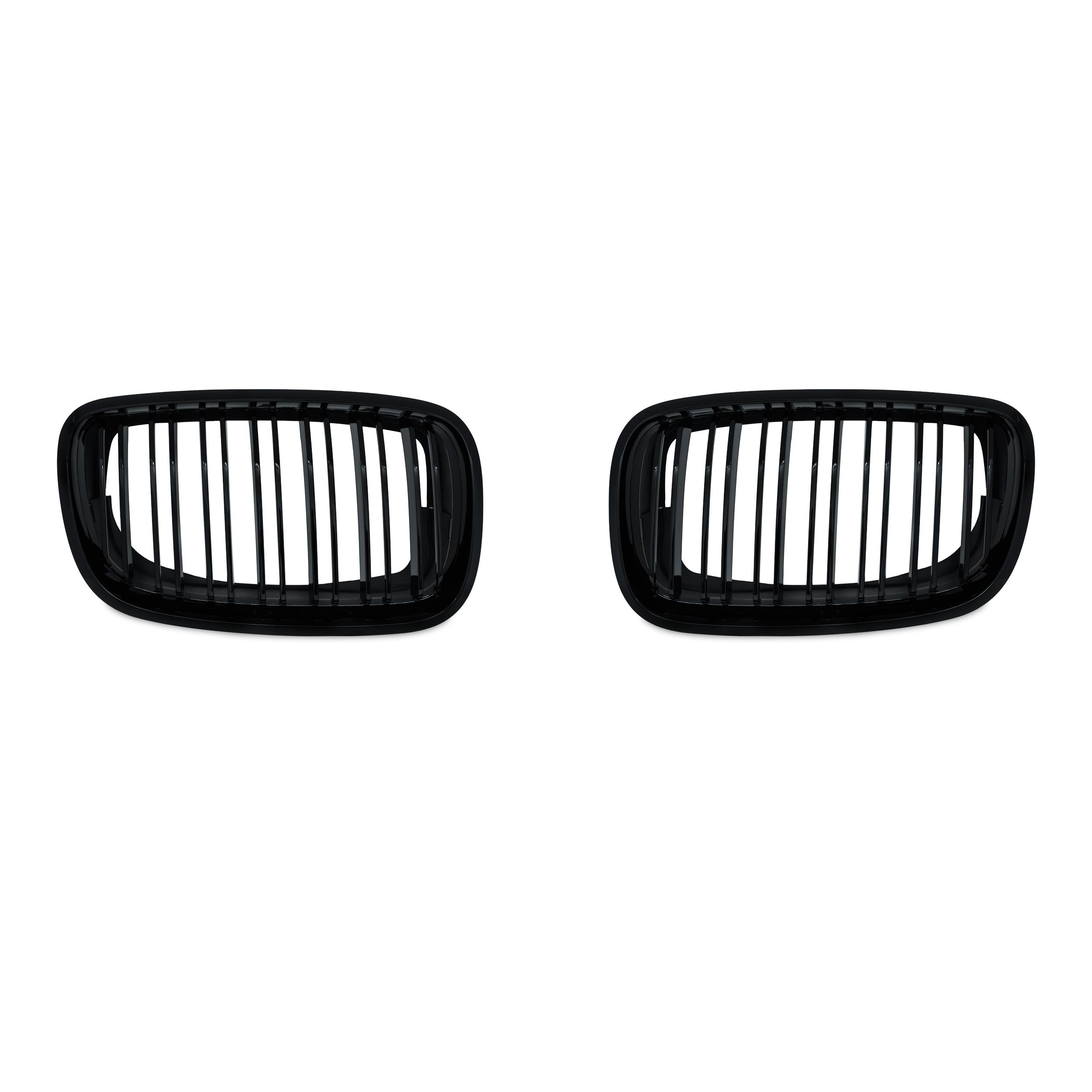 JOM Frontgrill med dobbelt ribbe i blank sort til BMW X5 E70 årgang 2007 -2013 Styling