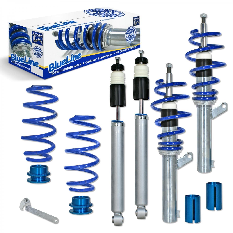 Blue Line - Gevindundervogn til VW Golf 5 - 50 og 55 mm fjedreben Styling > Gevindundervogn > VW > Golf 5