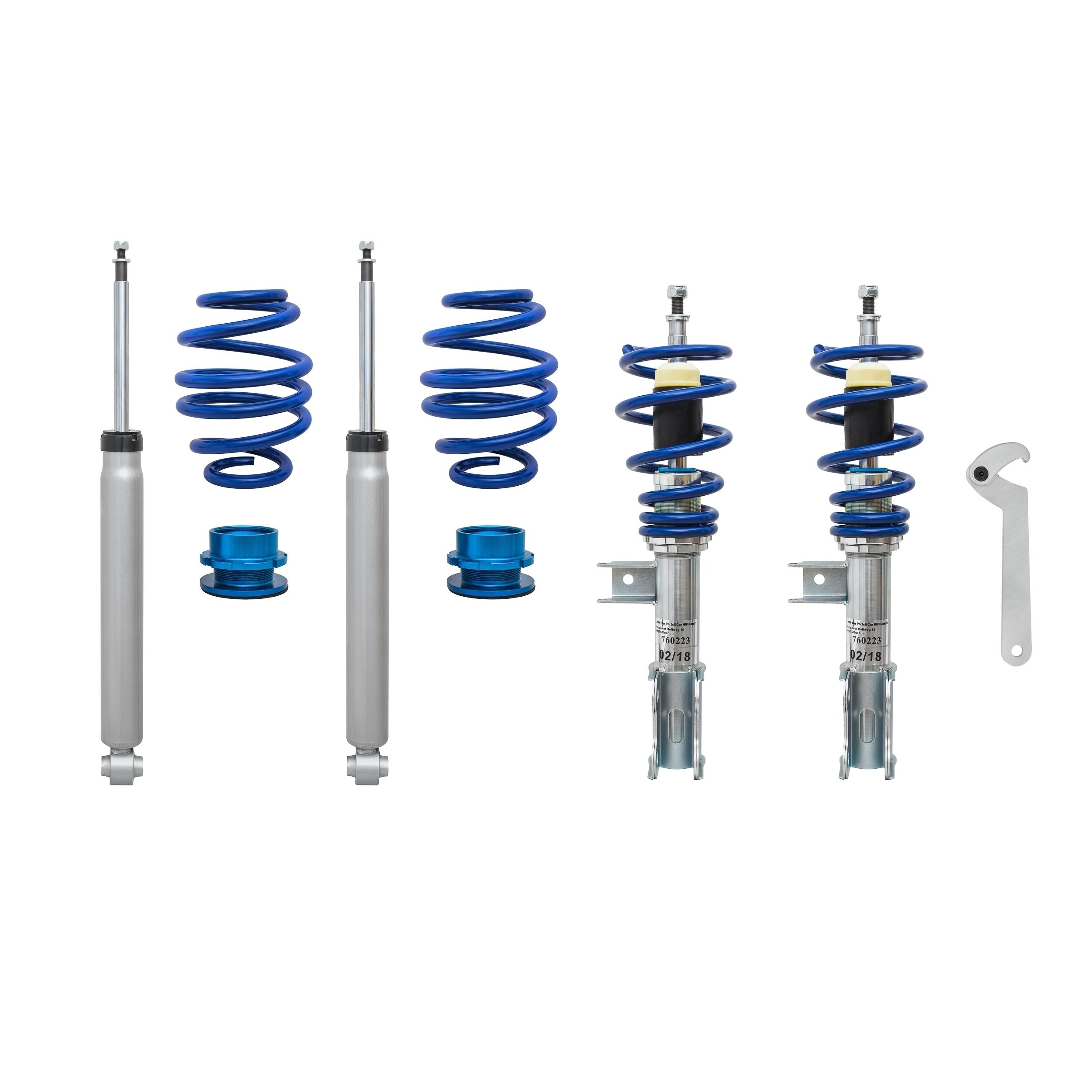 Blue Line - Gevindundervogn til Mercedes CLA (C117) og Shooting Brake (X117) Styling > Gevindundervogn
