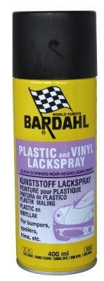 Bardahl Plastik og Vinyl Maling - Sort - 400 ml. Olie & Kemi > Spray